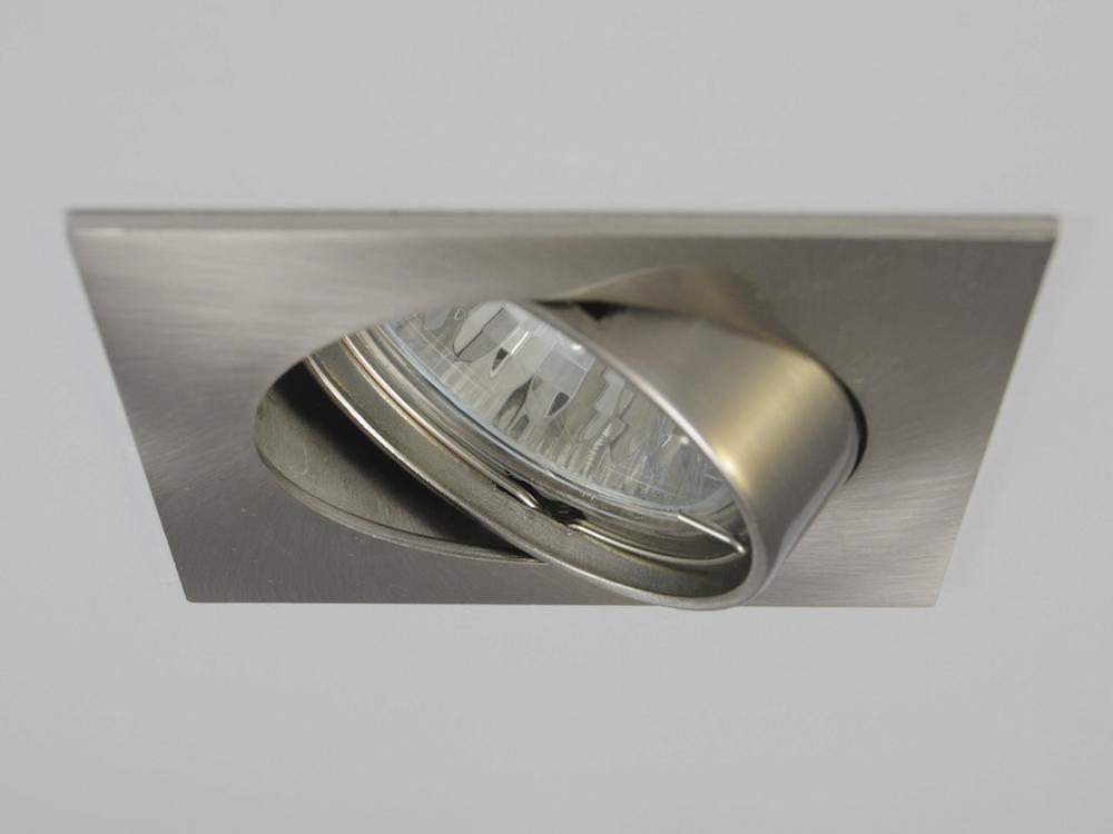 Einbaustrahler ZL-1608 Stahl gebürstet / 3W GU10 - Warmweiß