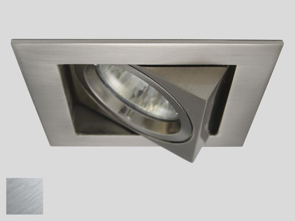 Einbaustrahler ZL-1624 Stahl gebürstet / ohne Leuchtmittel