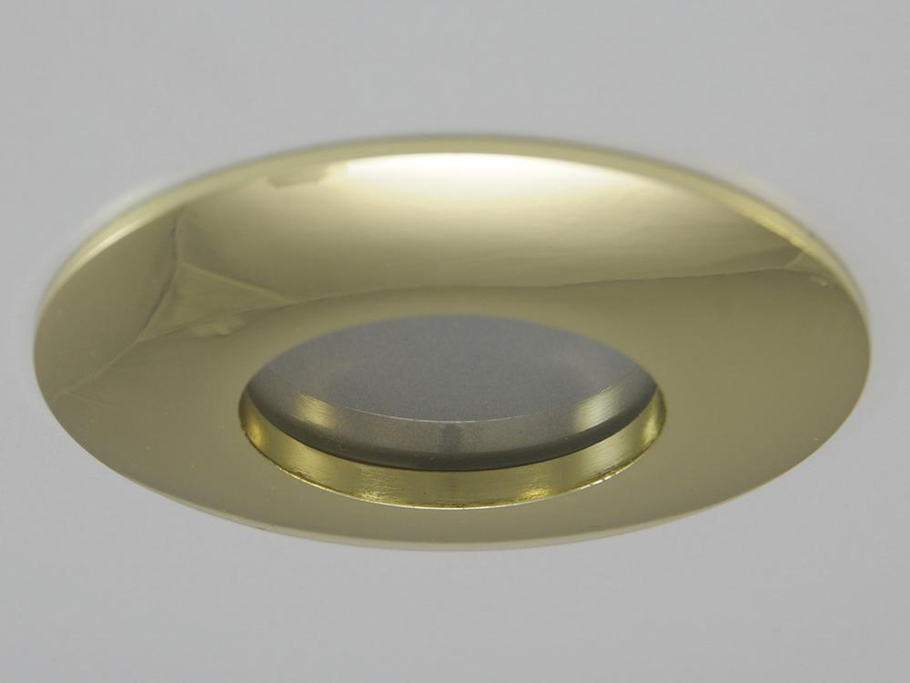 IP65 Einbaustrahler ZL1219 Gold 3W GU10 - Warmweiß