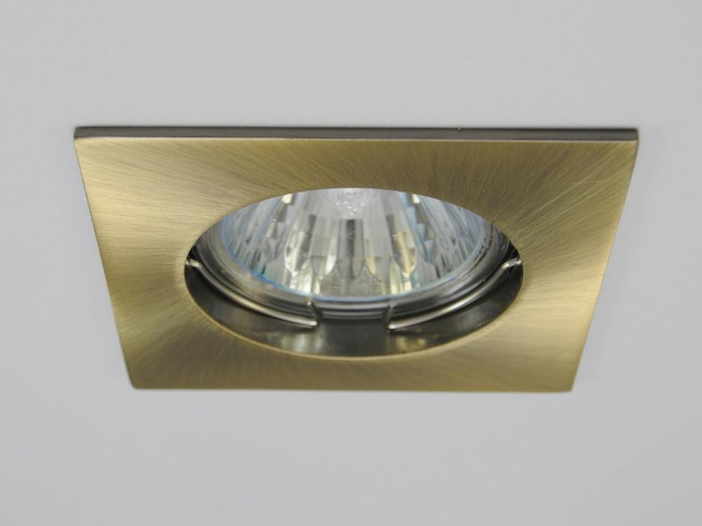 Einbaustrahler ZL-1501 Messing gebürstet / ohne Leuchtmittel