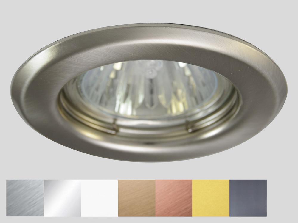 Einbaustrahler ZL-1650 Stahl gebürstet / ohne Leuchtmittel
