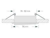Einbaustrahler - ZL1652 Messing gebürstet / 5W GU10 - Naturalweiß